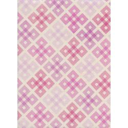 C5174-002 Panorama - Geo Twirl - Hot Pink Unbleached Cotton Fabric