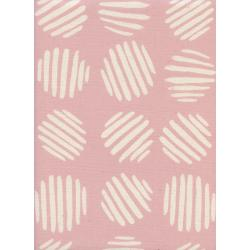 C5175-002 Panorama - Coin Dots - Cotton Candy Unbleached Cotton Fabric