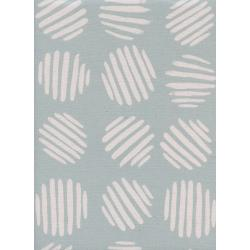 C5175-004 Panorama - Coin Dots - Baby Powder Unbleached Cotton Fabric