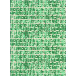 C5177-002 Panorama - Stamps - Emerald City Unbleached Cotton Fabric