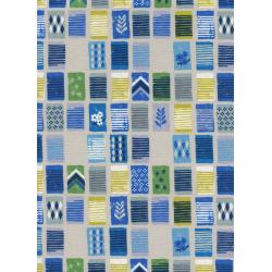 C6011-002 Poolside - Towels - Blue Unbleached Cotton White Pigment Fabric