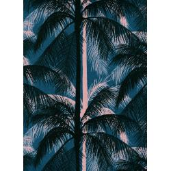 C6017-012 Poolside - Palms - Blue Canvas Fabric