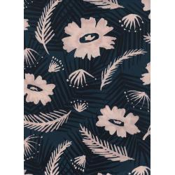 C6018-025 Poolside - Palm Springs Bouquet - Blue Rayon Fabric