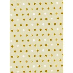 C5011-003 Spellbound - Skull Dots - Ivory White Pigment Fabric