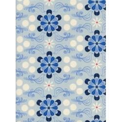 C5098-001 S.S. Bluebird - Diner - Blue Unbleached Cotton Fabric