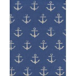 C5104-022 S.S. Bluebird - Melody - Anchor - Blue Canvas Fabric
