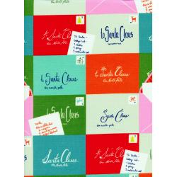 C5012-001 Tinsel - Notes To Santa Fabric