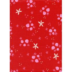 C5017-002 Tinsel - Winter Pomegranates - Red Fabric
