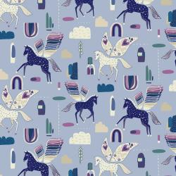 EE101-PE2 Mystical - Rainbow's End - Periwinkle Fabric