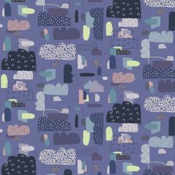 EE102-BV1 Mystical - Cloud Nine - Blue Violet Fabric