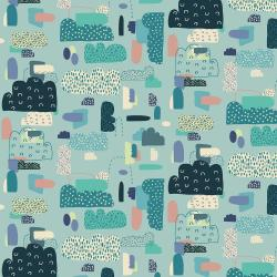EE102-LT3 Mystical - Cloud Nine - Light Teal Fabric