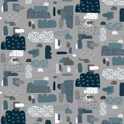 EE102-NS5 Mystical - Cloud Nine - Night Sky Fabric