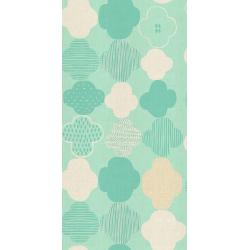 HO103-AQ2U Mori No Tomodachi - Kumo - Aqua Unbleached Cotton Fabric