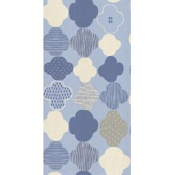 HO103-BL1U Mori No Tomodachi - Kumo - Blue Unbleached Cotton Fabric