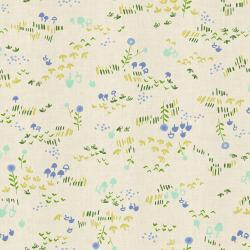 HO106-GR3U Mori No Tomodachi - Nohara - Grass Unbleached Cotton Fabric