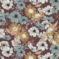 HJ300-MU3 Wallflower - Flower Child - Mulberry Fabric