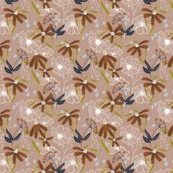 HJ301-DP2 Wallflower - Blooms - Dusty Pink Fabric