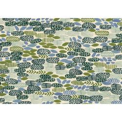 JE102-AL1U Homestead - Pond - Algae Unbleached Fabric