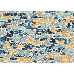 JE102-RR3U Homestead - Pond - River Rocks Unbleached Fabric