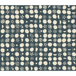JE103-RB2U Homestead - Germination - River Blue Unbleached Fabric