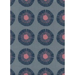 J9014-001 Imagined Landscapes - Seaside Daisy - Slate Unbleached Cotton Fabric