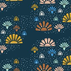JT100-TW2 Modern Meadow - Twilight Fabric