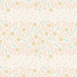 JT105-HO1 Modern Meadow - Flower Field - Honey Fabric