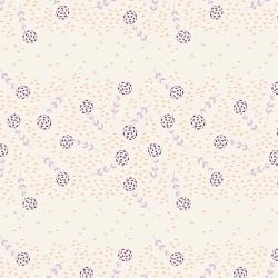 JT105-PL3 Modern Meadow - Flower Field - Plum Fabric