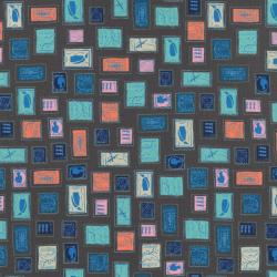 K3003-001 Homebody - Philately - Coral/Navy Fabric