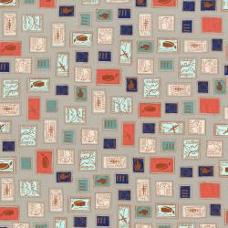 K3003-002 Homebody - Philately - Gray Fabric