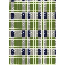 K3018-003 Lucky Strikes - Domino Plaid - Grass Fabric