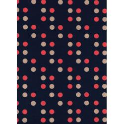 K3019-001 Lucky Strikes - Dime Store Dot - Navy Fabric