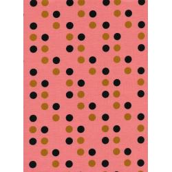 K3019-002 Lucky Strikes - Dime Store Dot - Coral Fabric