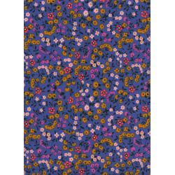 K3023-001 Lucky Strikes - Clothesline Floral - Periwinkle Fabric
