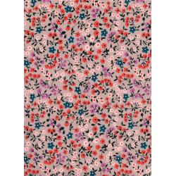 K3023-002 Lucky Strikes - Clothesline Floral - Red Fabric