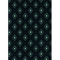 K3024-011 Lucky Strikes - Nine Pin - Black Lawn Fabric