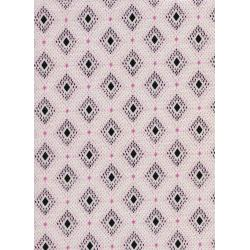 K3024-021 Lucky Strikes - Nine Pin - Pink Lawn Fabric
