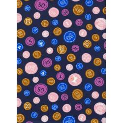 K3028-001 Penny Arcade - Pocket Change - Navy Fabric