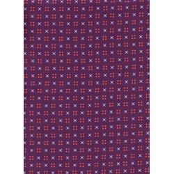K3031-001 Penny Arcade - X Dot - Purple Fabric