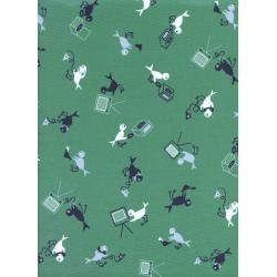 K3032-001 Rotary Club - Hello, Yes This Is Bird - Green Fabric