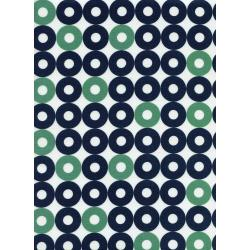 K3034-002 Rotary Club - Ring Rings - Navy/Green Fabric