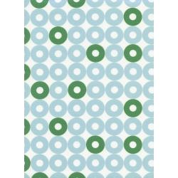 K3034-003 Rotary Club - Ring Rings - Blue/Green Fabric