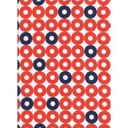K3034-004 Rotary Club - Ring Rings - Red/Navy Fabric