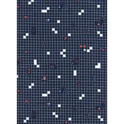 K3037-001 Rotary Club - Things Grid - Navy Fabric