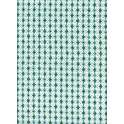 K3038-002 Rotary Club - Facets - Blue/Green Fabric