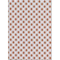 K3038-003 Rotary Club - Facets - Rust Fabric
