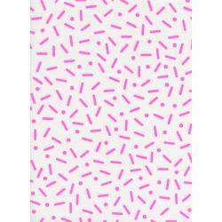 K3051-002 Snap to Grid - Big Pill Dot - Neon Pink Neon Pigment Fabric