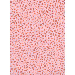 K3055-002 Snap to Grid - Ziggy - Pink Fabric