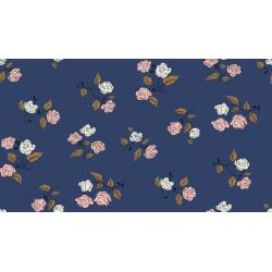 K3065-001 Steno Pool - Roses - Midnight Fabric