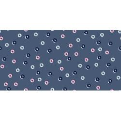 K3070-001 Steno Pool - Reinforcers - Blueberry Fabric